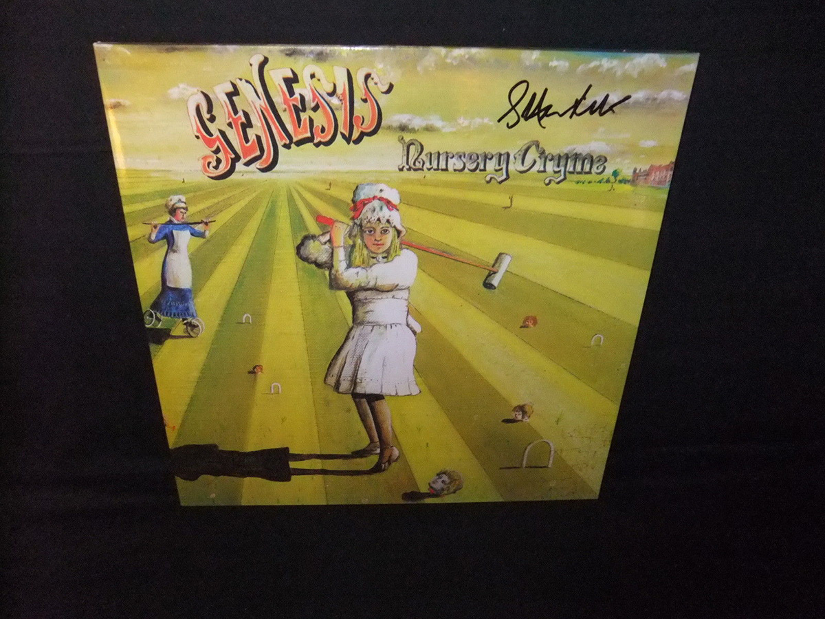 Genesis Nursery Cryme Official Signed Steve Hackett 2018